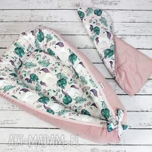 kokon dla dziecka różowe duży niemowlęcy jednorożec