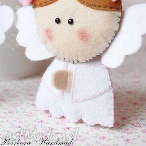 różowe dla dziecka anioł filcowy aniołek