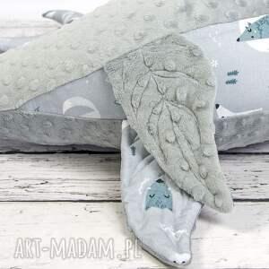 szare dla dziecka dekoracyjna foka rebeka wilki - poduszka do