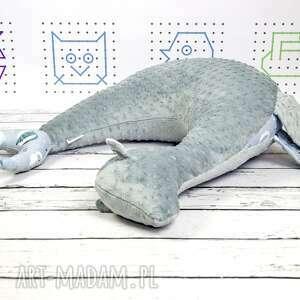 poduszka dla dziecka niebieskie foka rebeka wilki