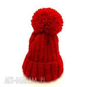 dla dziecka czapka handmade dziecięcy komplet wełniany