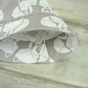szare dla dziecka kapelusz dziecka, białe kotki