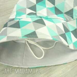 szare dla dziecka kapelusz dziecka, trójkąty