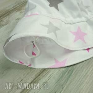 różowe dla dziecka bawełna kapelusz dziecka, gwiazdki