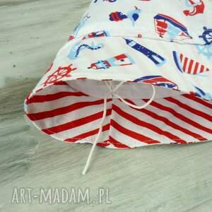 czerwone dla dziecka kapelusz dziecka, motyw morski