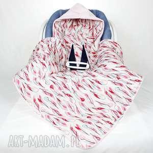 różowe dla dziecka kocyk do fotelika samochodowego