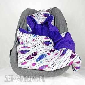 niebieskie dla dziecka nosidła kocyk do samochodowego