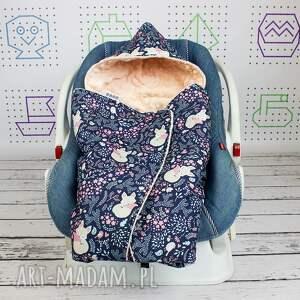 kocyk dla dziecka turkusowe do nosidła samochodowego