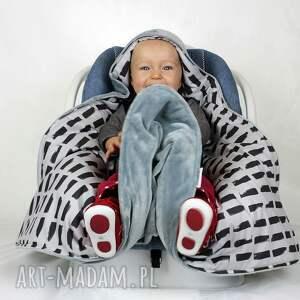 handmade dla dziecka fotelik kocyk do nosidła samochodowego
