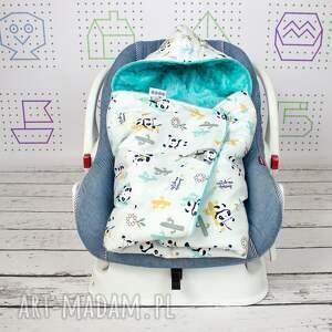 turkusowe dla dziecka samochodowy kocyk do nosidła samochodowego