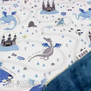 intrygujące dla dziecka smok kocyk minky 75x100 dragon