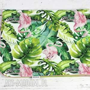 zielone dla dziecka pościel kocyk minky 75x100 tropikalne
