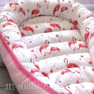 wyjątkowe dla dziecka kokon kokon, gniazdko niemowlęce flamingi