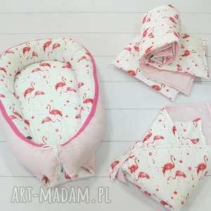 różowe dla dziecka kokon kokon, gniazdko niemowlęce flamingi