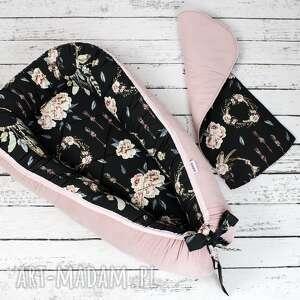modne dla dziecka kokon gniazdo dla niemowlaka różany