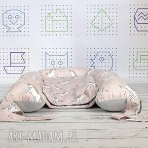 dla dziecka jednorożce kokon gniazdo dla niemowląt