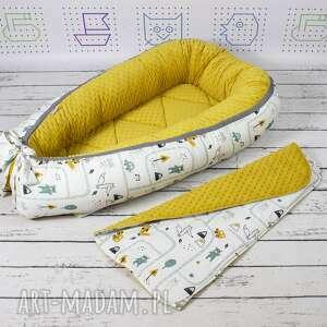 kokon dla dziecka żółte gniazdo dla niemowlaka brum