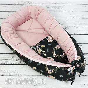 kokon dla dziecka różowe gniazdo dla niemowlaka różany