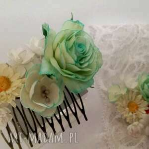 dla dziecka kwiaty komplet dla mamy i córki grzebyk