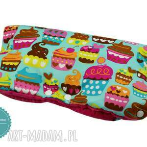 ręcznie robione dla dziecka muffinka komplet do wózka, wzór muffiny
