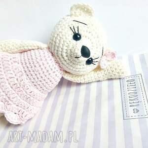 dla dziecka misie kremowa misia w różowej sukience