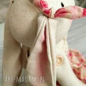 ręczne wykonanie dla dziecka prezent królik przytulanka chrzest