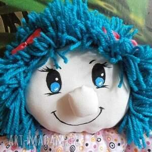 lalka dla dziecka niebieskie przytulanka