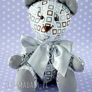 białe dla dziecka zabawka miś przytulanka