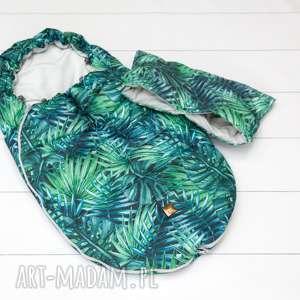 modne mufka do wózka palmy