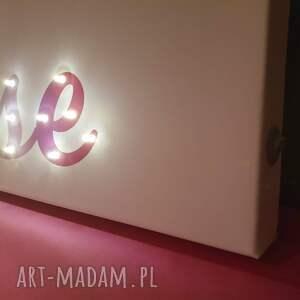 białe dla dziecka lampka neon obraz led z imieniem pastelowy