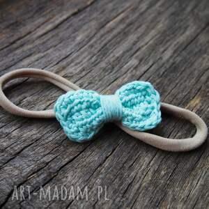 handmade dla dziecka opaska do włosów z kokardką