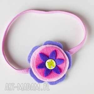 handmade dla dziecka prezent opaska niemowlęca - żabka