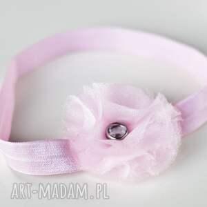 ręcznie wykonane dla dziecka prezent opaska niemowlęca - kryształek