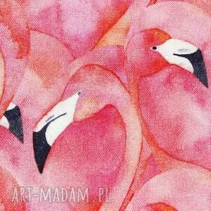 różowe dla dziecka bambus otulacz bambusowy flamingi 75x100