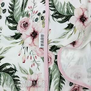 różowe dla dziecka bambusowy otulacz wild bloom 75x100