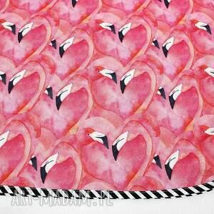 otulacz dla dziecka bambusowy flamingi 75x100