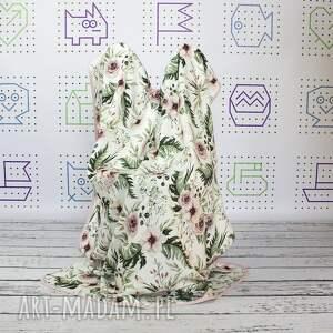różowe dla dziecka bambus otulacz bambusowy wild bloom 75x100
