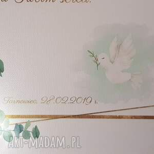 zielone dla dziecka pamiątka bierzmowania, chrztu
