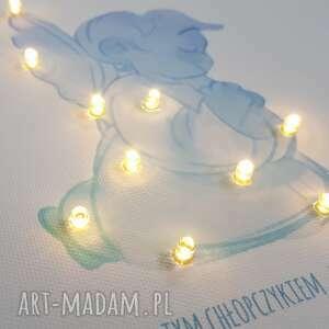dla dziecka: pamiątka chrztu świecący obraz led modlitwa aniołek prezent na chrzest
