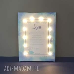 COSnieCOS dla dziecka: pamiątka chrztu świecący obraz led modlitwa aniołek lampka prezent na chrzest chrzciny