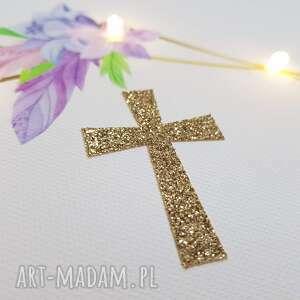 pamiątka dla dziecka złote chrztu obraz led złoty