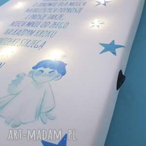 dla dziecka chrztu pamiątka świecący obraz led