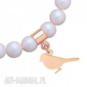 ręczne wykonanie dla dziecka bransoletka perłowa z pereł