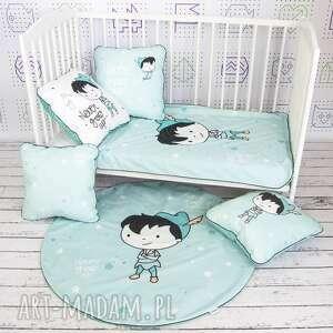 NuvaArt dla dziecka: Piotruś pan welurowa mata do zabawy oraz dwie poduszki - dywanik