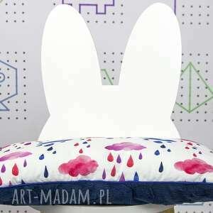poduszka dla dziecka niebieskie płaska do łóżeczka