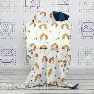 poduszka dla dziecka niebieskie płaska do łóżeczka firefox