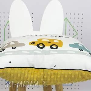 intrygujące dla dziecka samochody poduszka brum 46x46