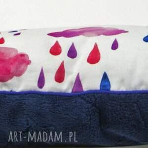 fioletowe dla dziecka przedszklaka poduszka chmurki