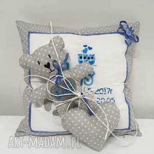 dla dziecka urodziny poduszka metryczka i miś serduszko