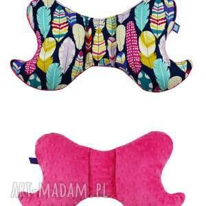 piórka dla dziecka poduszka motylek, wzór